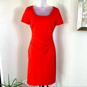 DIANE von FURSTENBERG Red Sheath Bevina Dress Sz 2